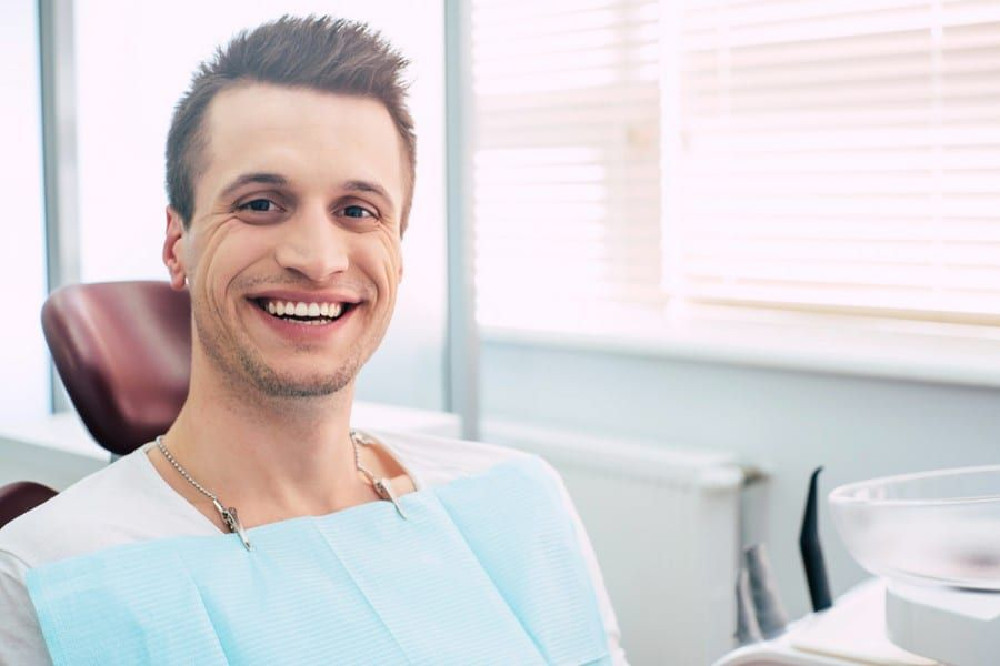 male dental patient smiling